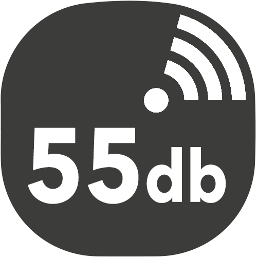 small hotte decibels 55db