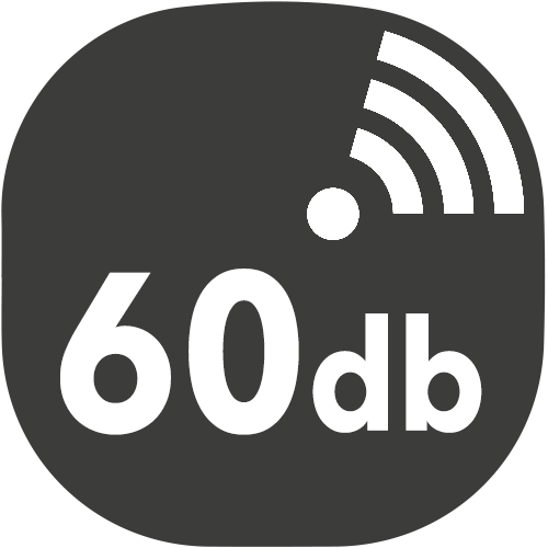 small hotte decibels 60db