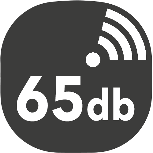 small hotte decibels 65db