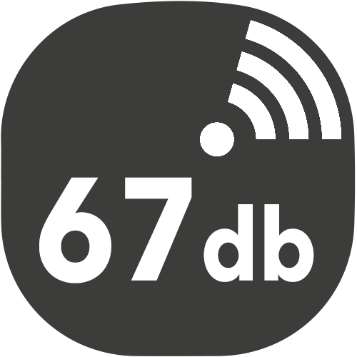 small hotte decibels 67db