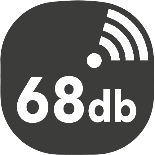 small hotte decibels 68db