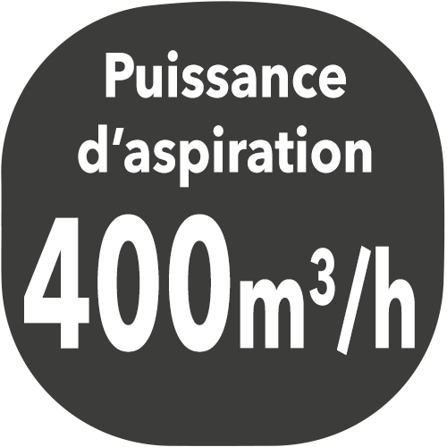 small hotte puissance aspiration 400m3