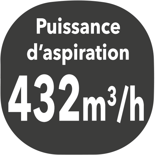 small hotte puissance aspiration 432m3