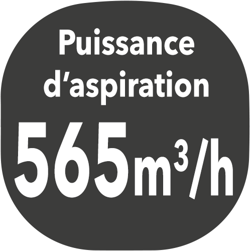small hotte puissance aspiration 565m3