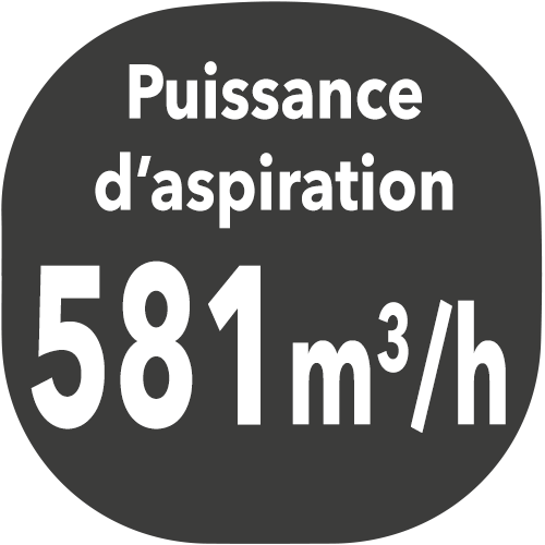 small hotte puissance aspiration 581m3