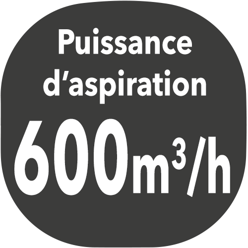 small hotte puissance aspiration 600m3