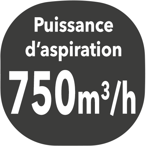 small hotte puissance aspiration 750m3