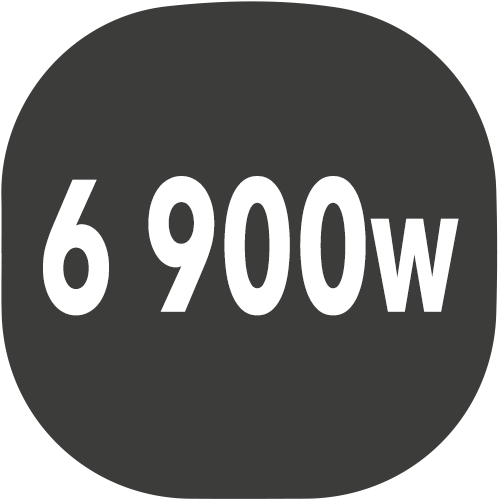 small plaque puissance 6900w