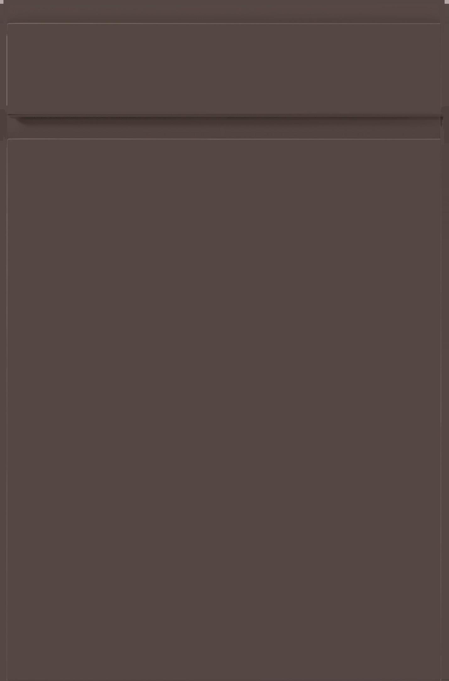 Façade OSLO-MAT Brun havane mat soyeux